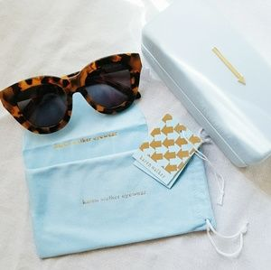 Karen Walker Anytime Cat Eye Sunglasses Tortoise